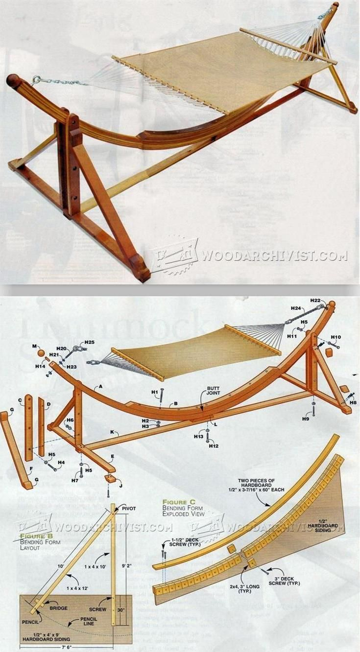 Diy hammock stand outdoor plans and projects woodarchivist