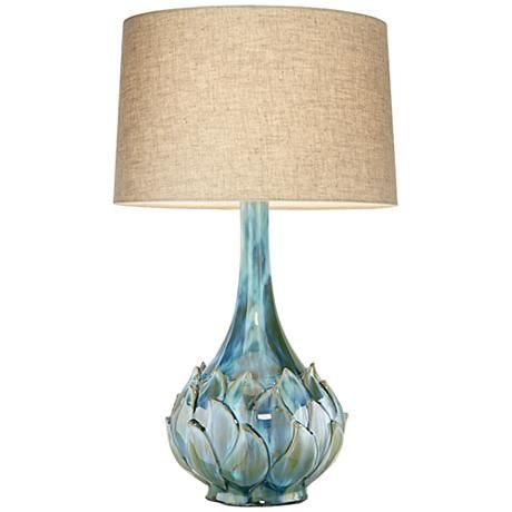 Awesome Possini Euro Kenya Blue Green Ceramic Table Lamp Nice Ideas