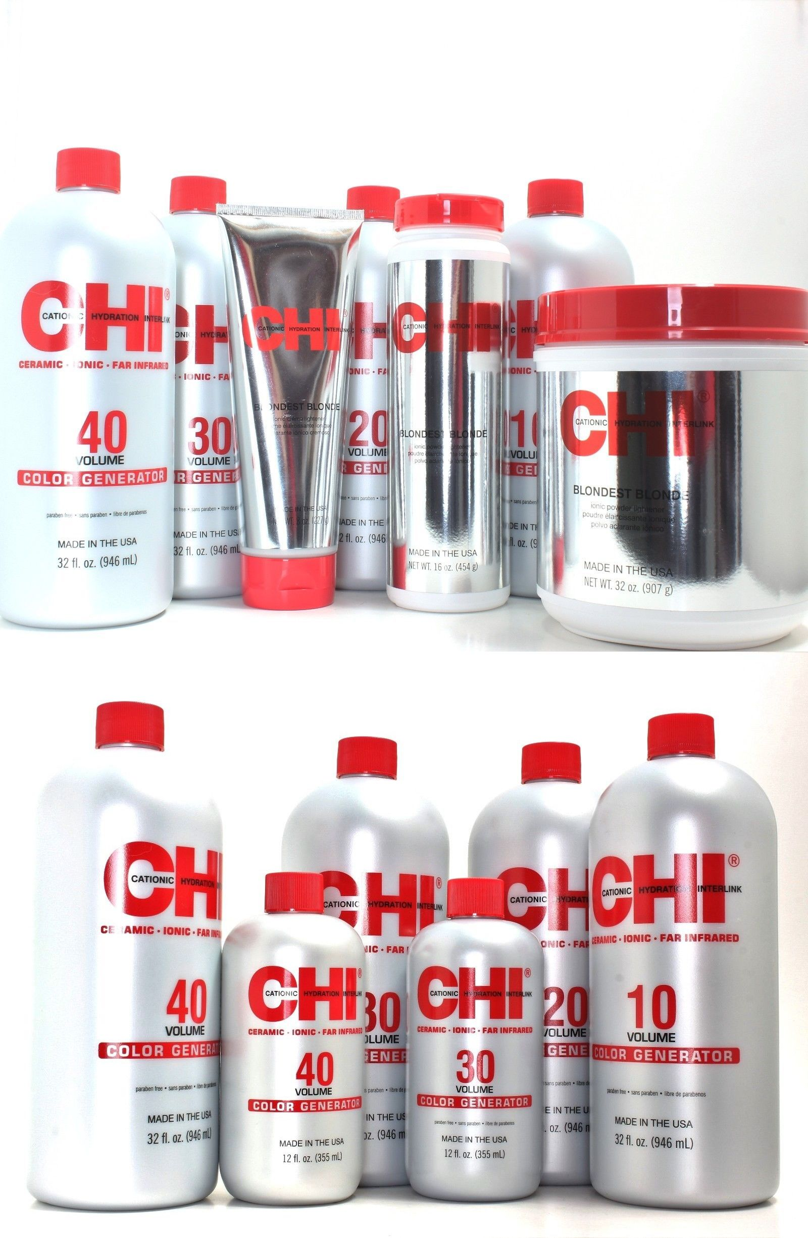 Hair Color Chi Color Generator Developer Powder Lightener And