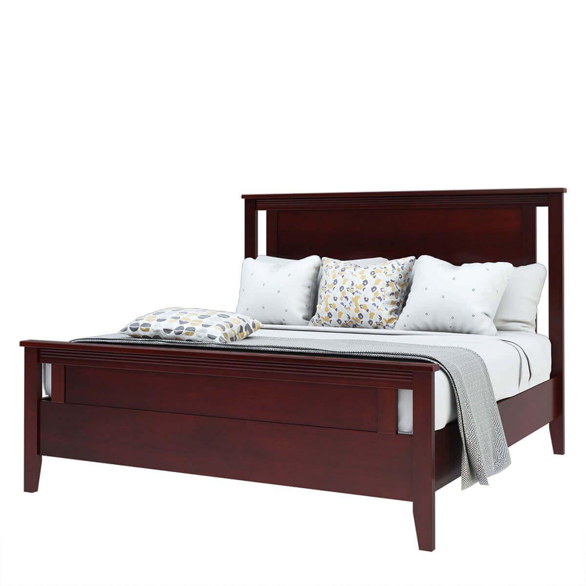Amenia Solid Mahogany Wood 6 Piece Bedroom Set In 2020 Bedroom Set Wood Bedroom Sets Contemporary Style Furniture