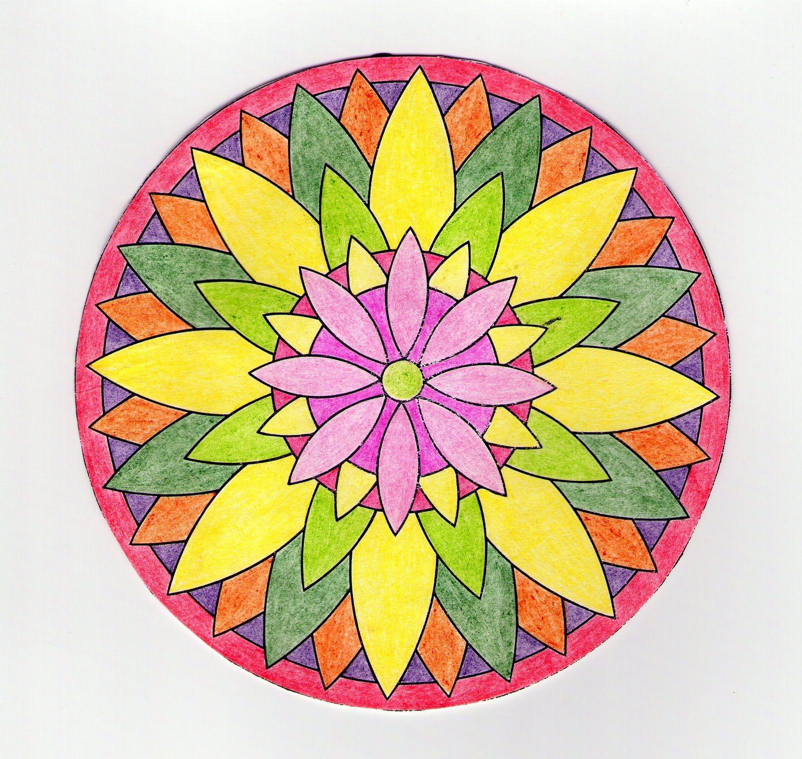 primavera dibujos coloreados bonitos