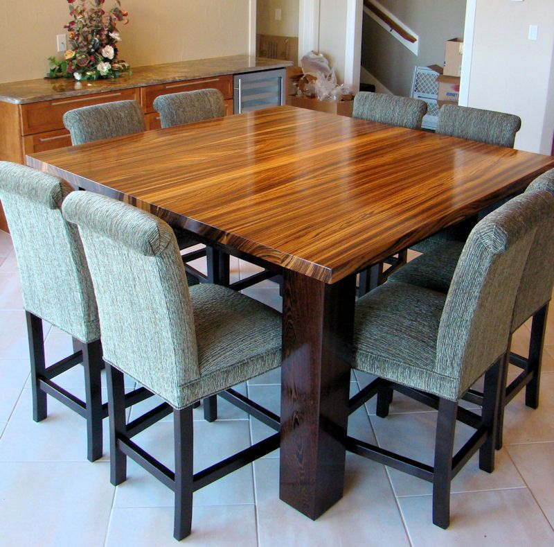 Zebrawood Table Top With Wenge Base Home Decor Ideas