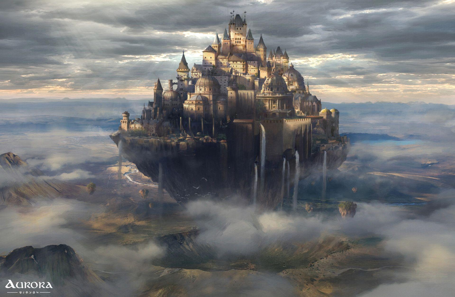 ArtStation - Floating City - Key  Frame, Aaron Salter | Fantasy ...