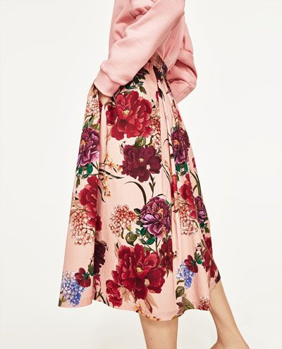 rok met bloemenprint