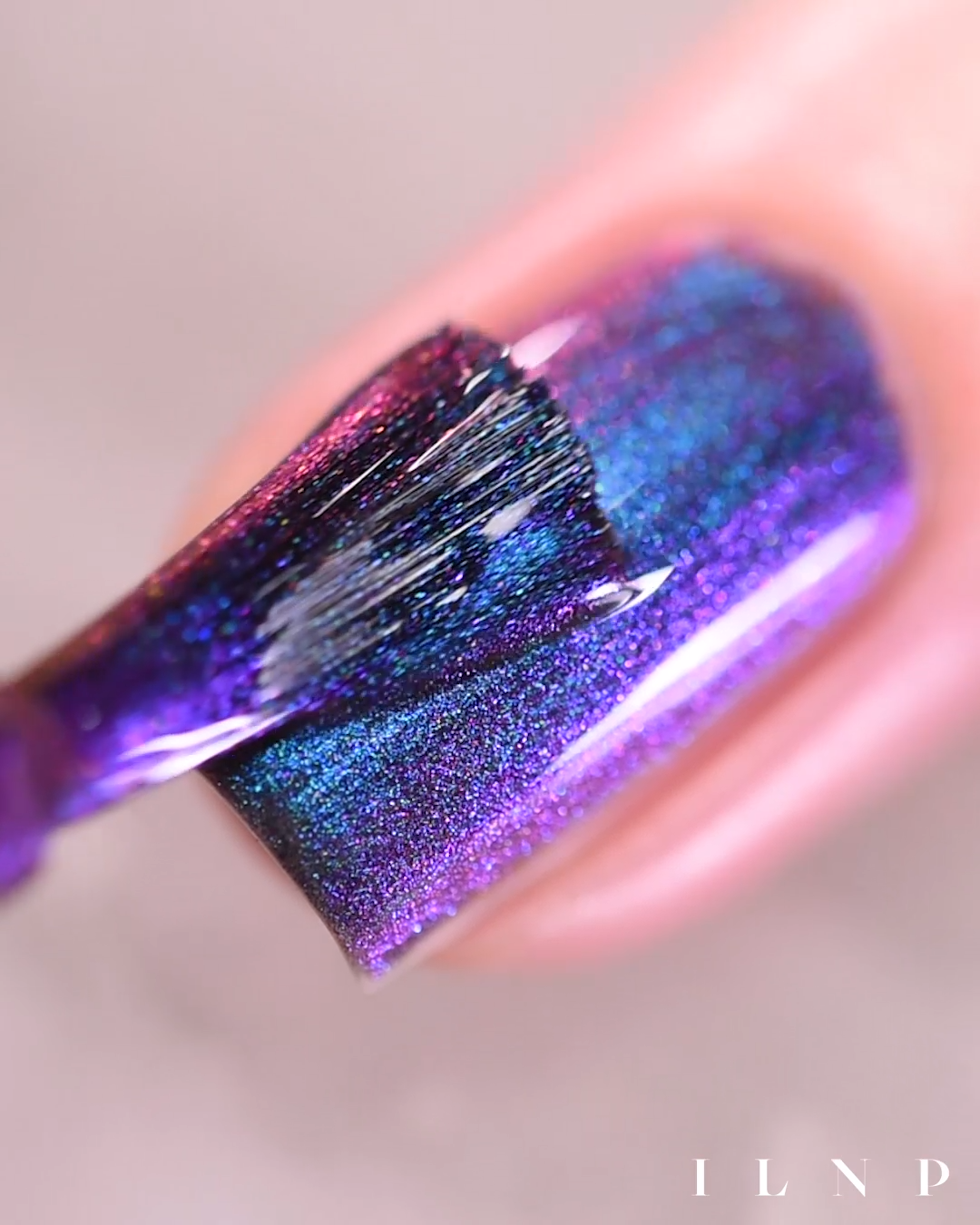 Birefringence (H) – Blue to Purple Holographic Ultra Chrome Nail Polish by ILNP