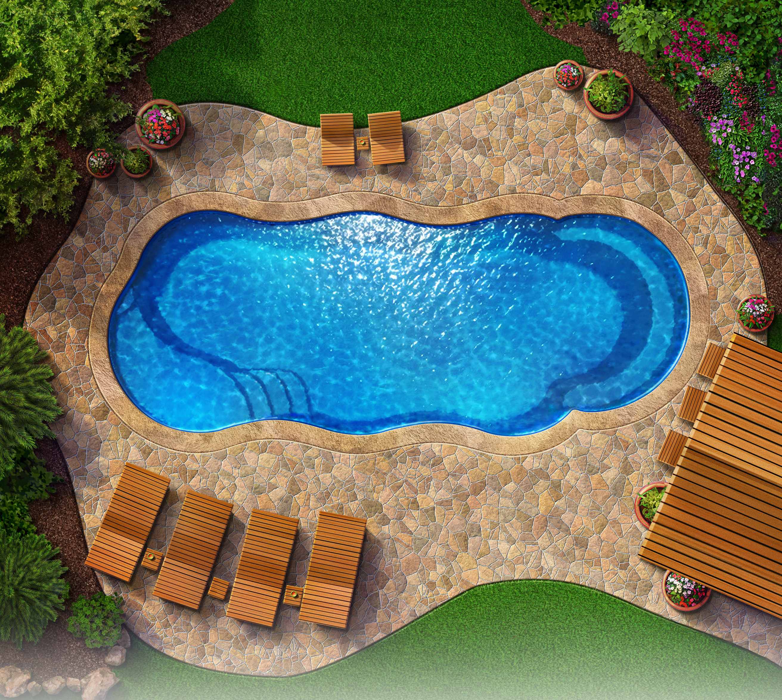 Crescent cove fiberglass pool kits gardening outdoors crescent cove fiberglass pool kits solutioingenieria