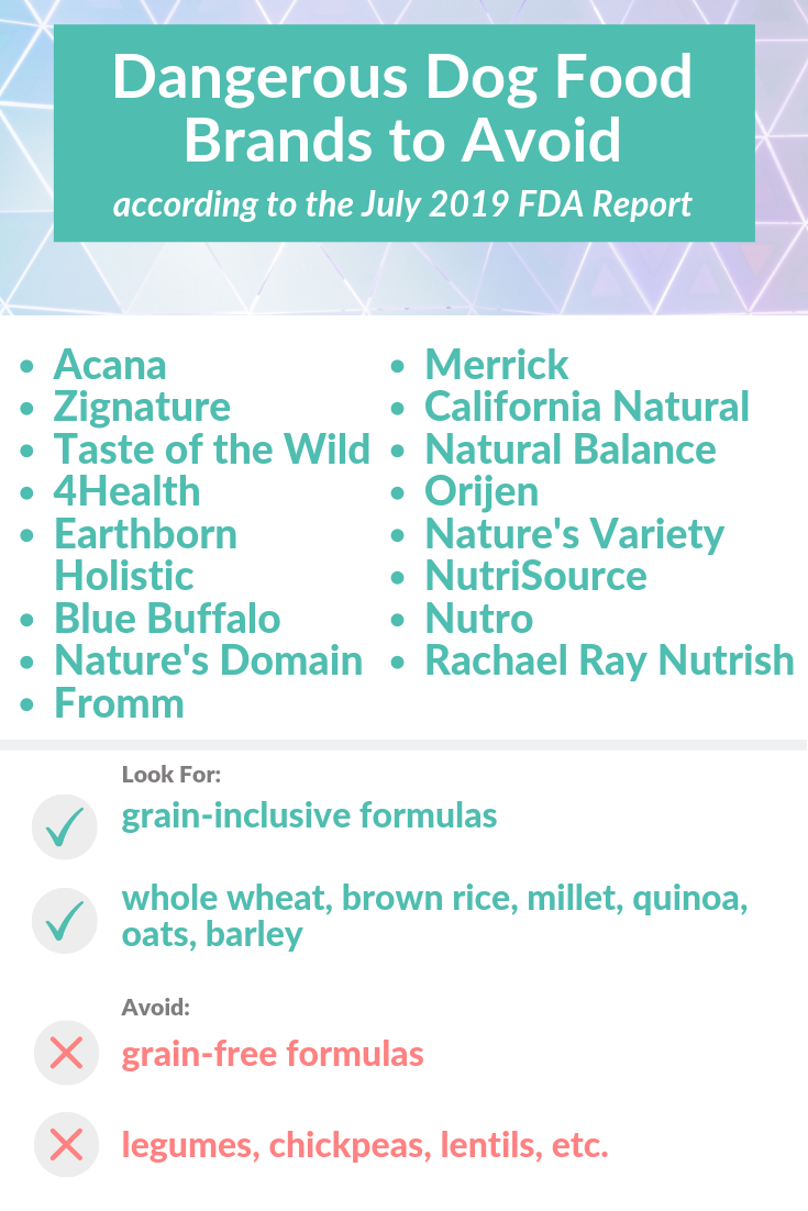 Dog Food FDA Report 2019 Is GrainFree Food Causing DCM