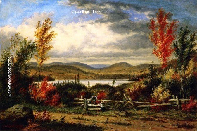Cornelius Krieghoff Lac Laurent Autumn, painting Authorized official website