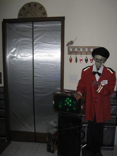 Haunted Hotel elevator inspiration from Halloween Forum