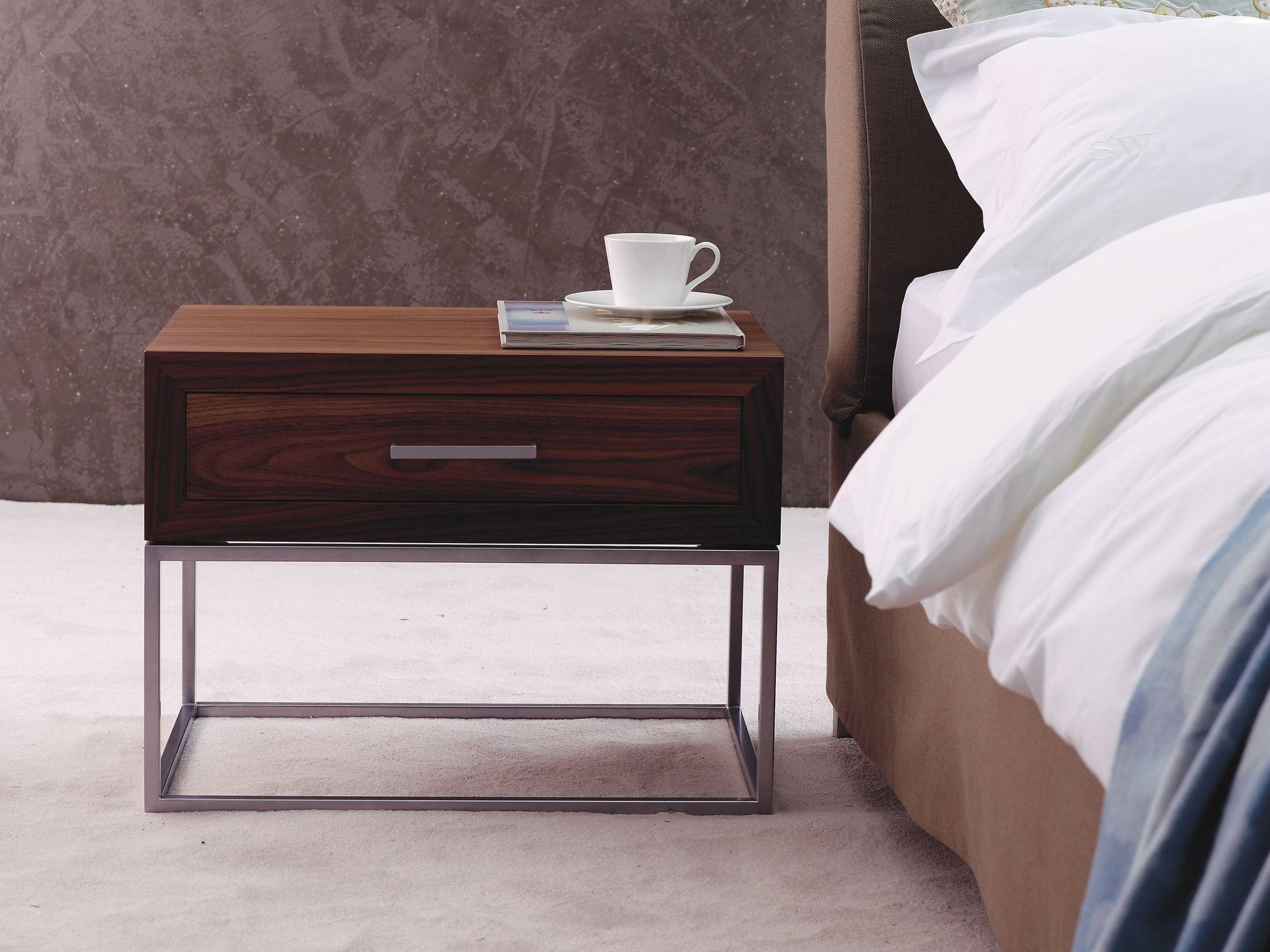 Schramm Werkstätten lacquered bedside table with drawers bt 30 1 by schramm werkstätten
