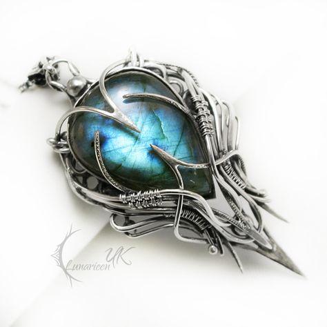EQEERTIUM silver and labradorite by LUNARIEEN elf gem ...