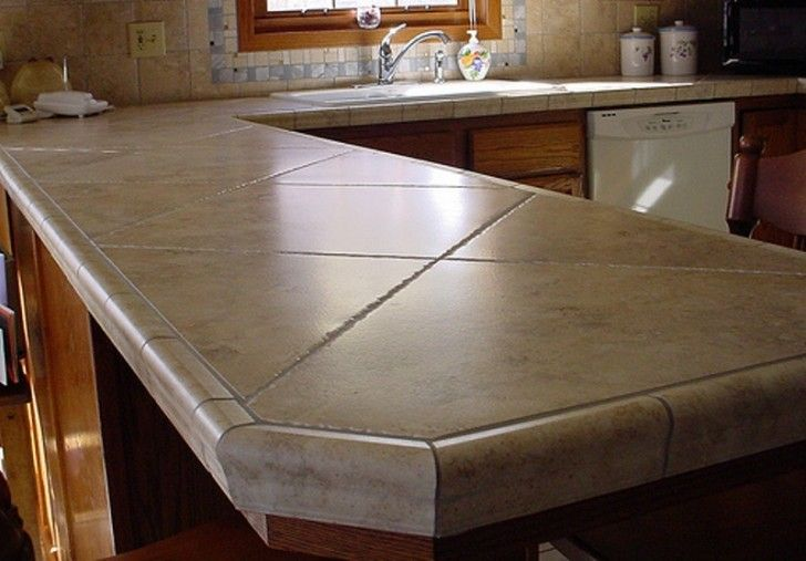 Kitchen Counter Top Designs I Like Tiled Countertopsespecially Like The Use Of Thes Larger