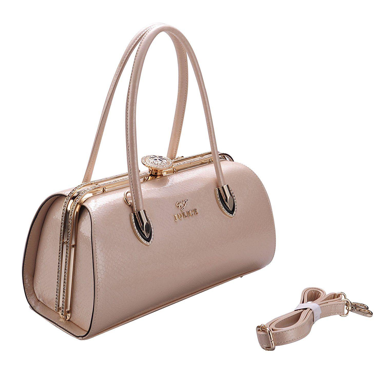 JULICE Leather Women's Handbag with Diamond for Any Occasion Beige: Handbags:  Amazon.com