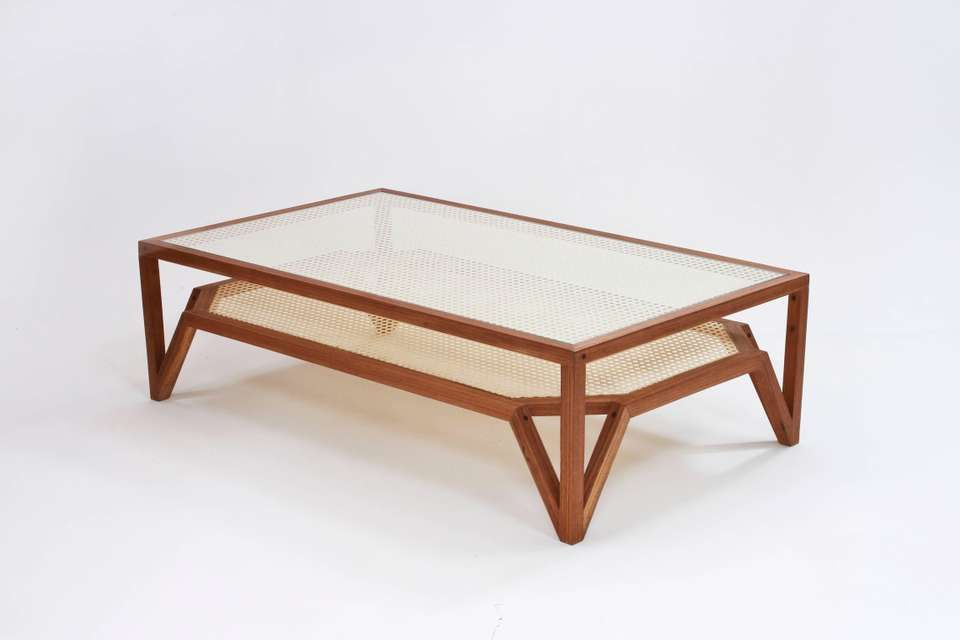 Freijo Wood Cane And Glass Coffee Table Different Types Of Wood And Measurements Are Available Upon Request Center Table Furniture Contemporary Coffee Table