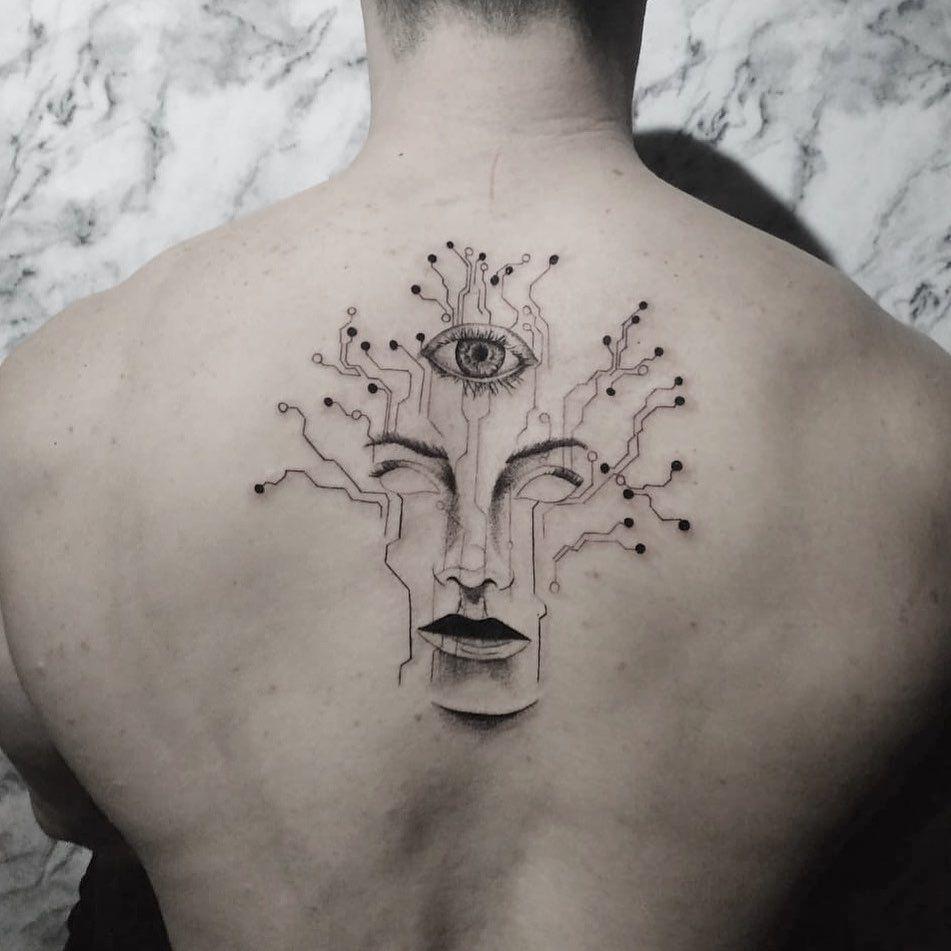🌳💻👁 . . . . . . . . . . #tatuagem #tattooart  #finelinetattoo  #tattoo2me #inspirationtattoo #tatuagemdelicada #linework #portoalegre #delicatetattoo #tattoofineline