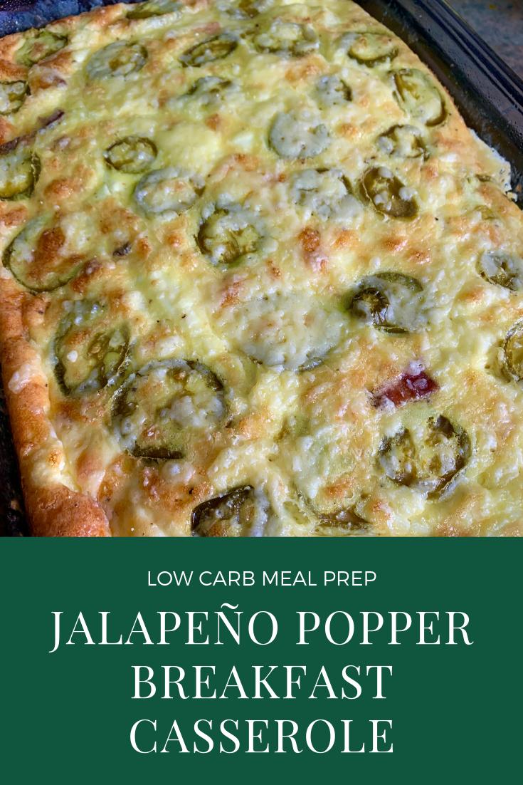 Photo of Jalapeo Popper Breakfast Casserole | Low Carb Keto Meal Prep #crockpotmealprep J…