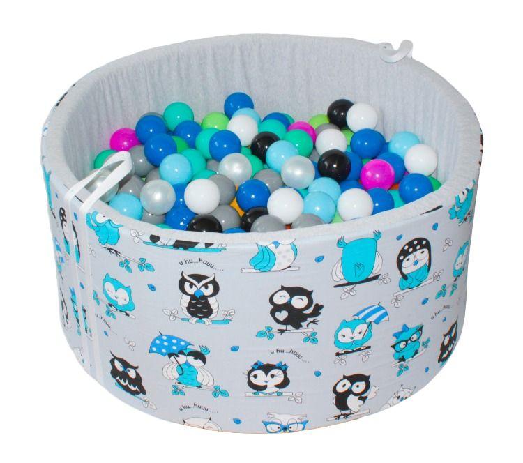 Suchy Basen Z Pileczkami Babyball Ball Ball Pit Crazy Owl