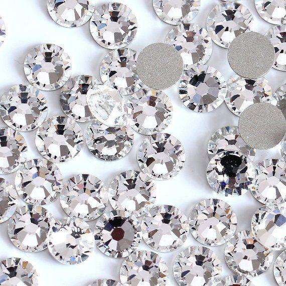 Swarovski Crystals CLEAR flat back stones rhinestone gems charms non hotfix  for nail art design shoe 727064d90d71