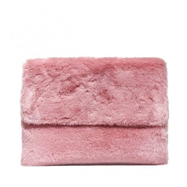 Oui Odile! Desiree pink powder eco fur clutch (€143) ❤ liked on ... fd8b0a8ba7