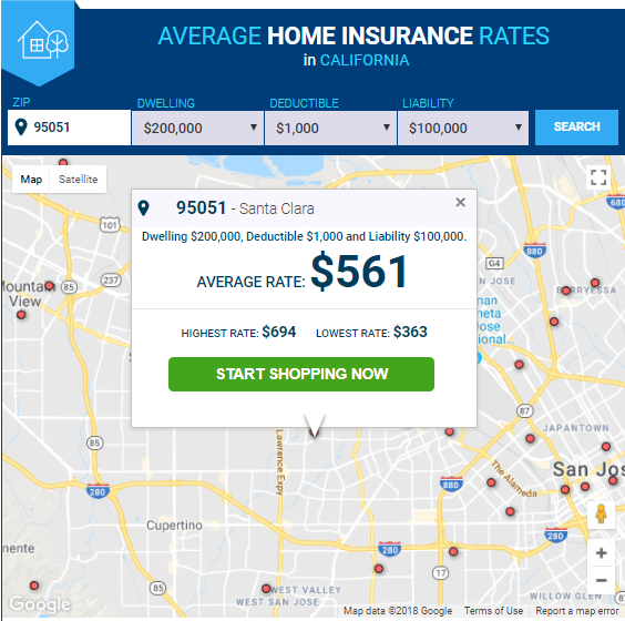 Average Homeowners Insurance Rates By State Home Insurance