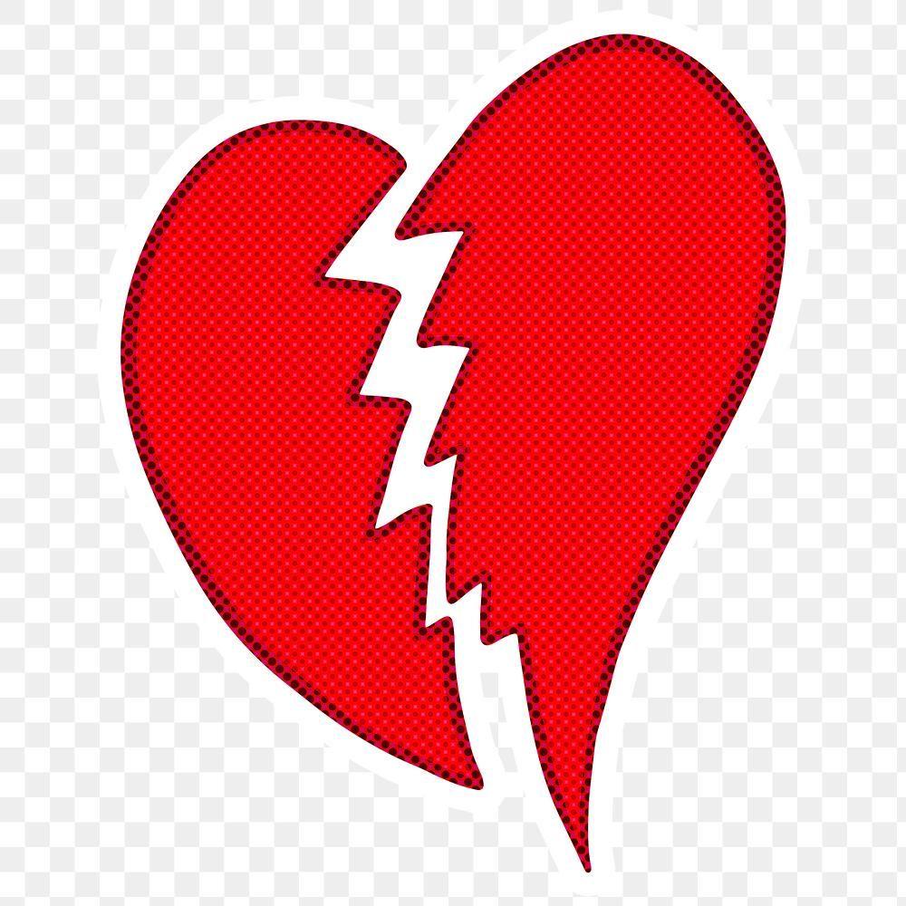 Halftone Red Broken Heart Sticker Overlay Design Resource Free Image By Rawpixel Com Ningzk V In 2021 Heart Stickers Halftone Free Illustrations