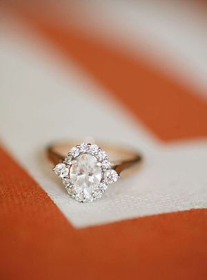 Fancy Oval Diamond Vintage Wedding Engagement Ring