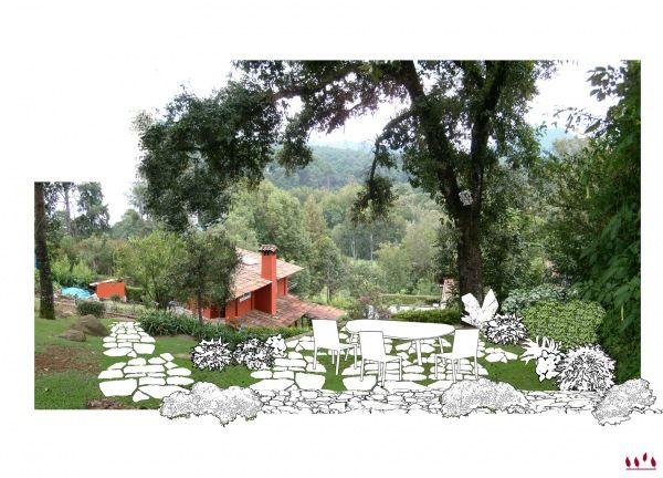 Terraza de jard n en av ndaro dise o de terraza de 50 m2 for Plantaciones verticales