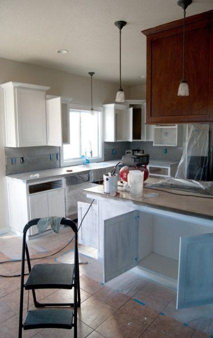 New kitchen white paint oak cabinets 64+ ideas   Primer ...