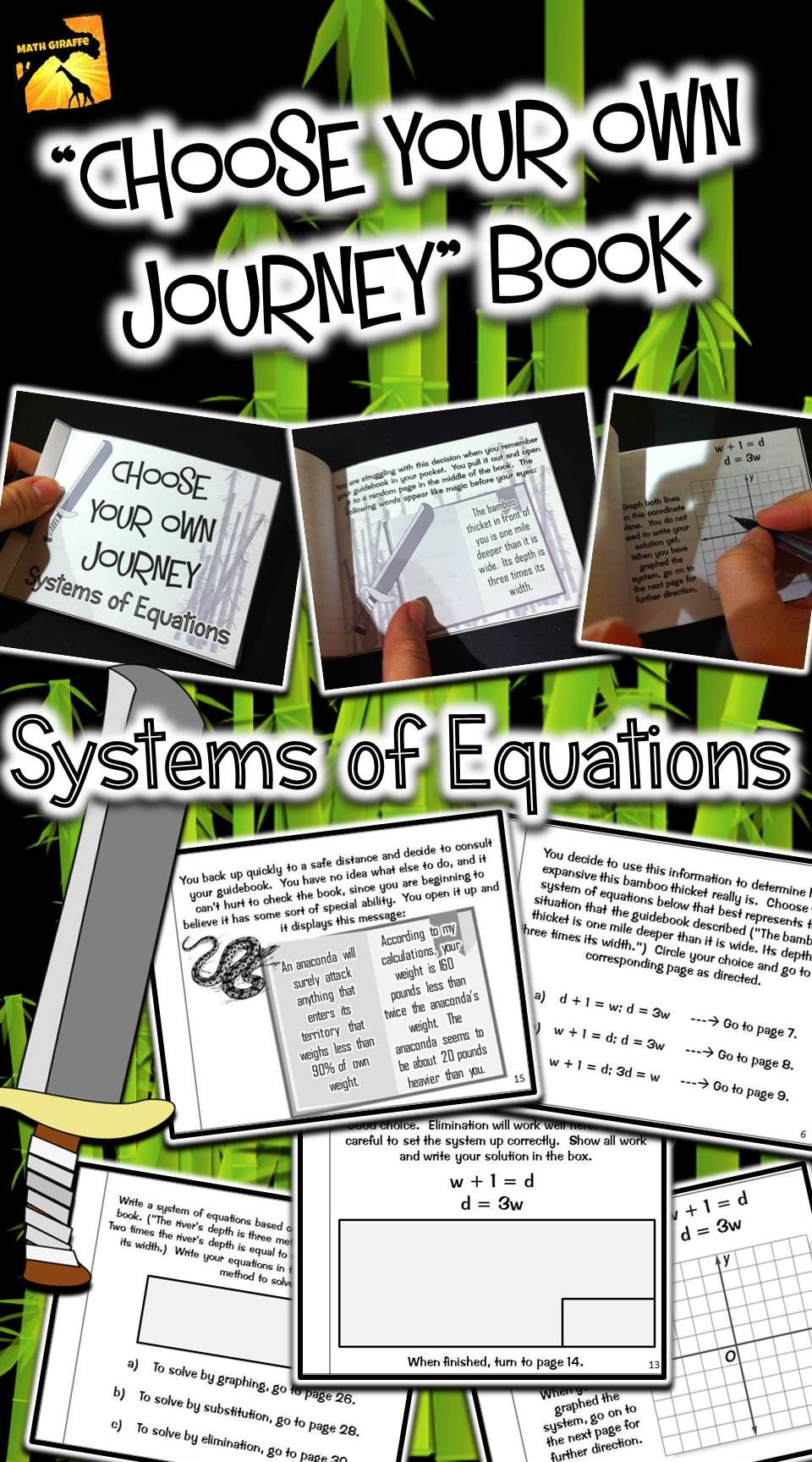Systems Of Equations Choose Your Own Journey Book With Images