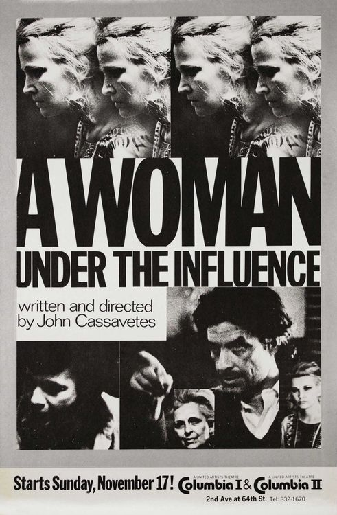 A Woman Under The Influence Poster John Cassavetes Under The Influence Gena Rowlands