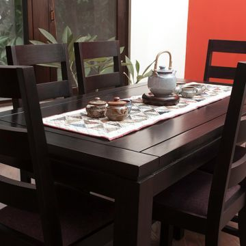 Inliving Dublin Dining Table With 6 Chairs Wenge