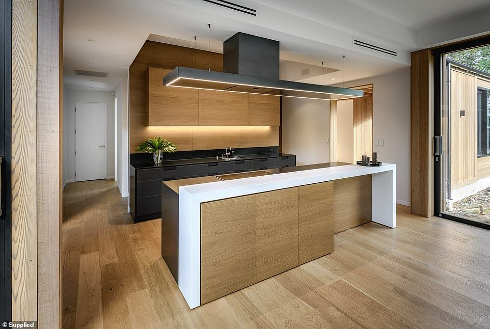 Inside the very modern kitchen named best in the world
