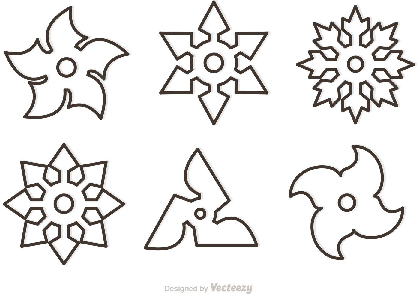 Outline Ninja Star Vectors Free Nick S Lego Ninjago Party