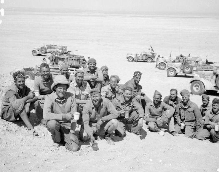 Men and vehicles of the Long Range Desert Group