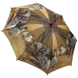 Galleria Art Print Walking Length Umbrella - Ballet Class by Degas Guarda  Sol 91abcfb4209