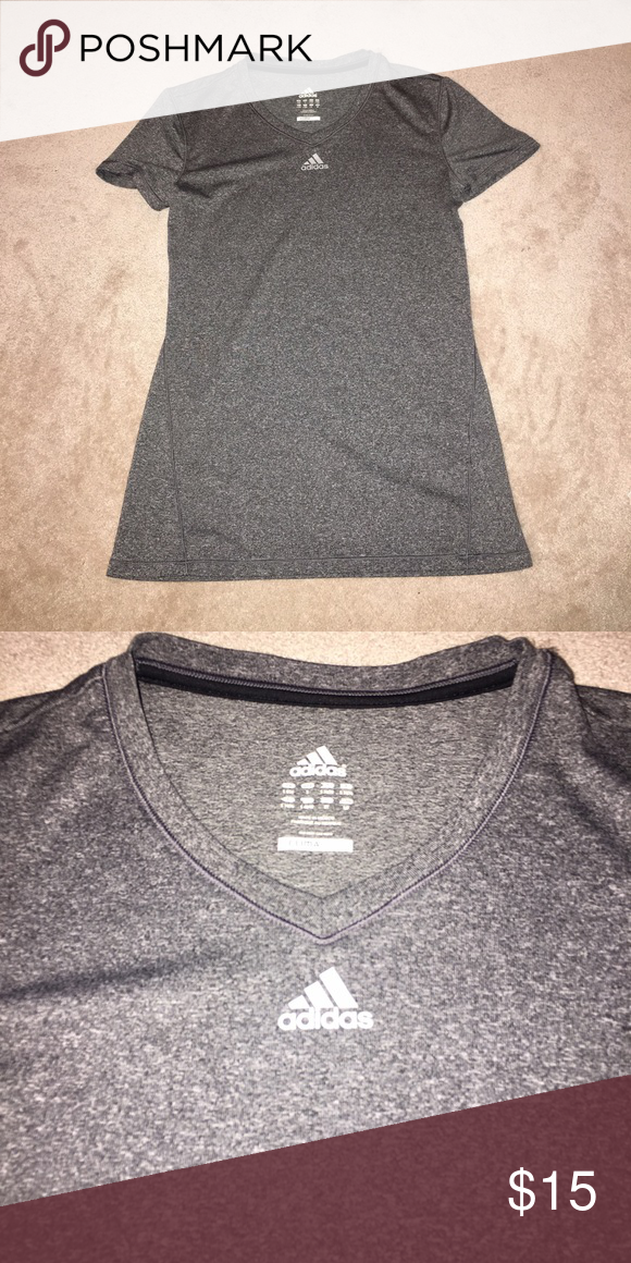 ADIDAS workout shirt Cute and comfy adidas workout top. Slightly worn but still like new. Too small for me now Adidas Tops Tees - Short Sleeve
