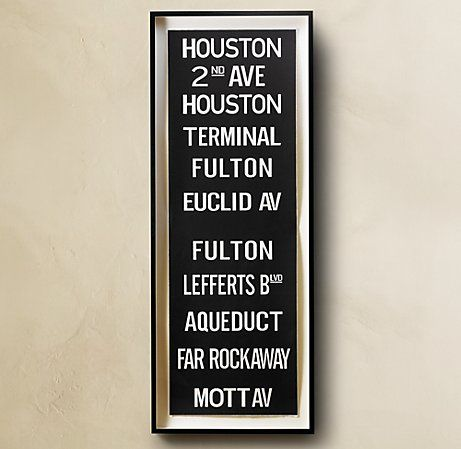 The Evolution of a Gallery Wall! | Subway sign, Subway ...