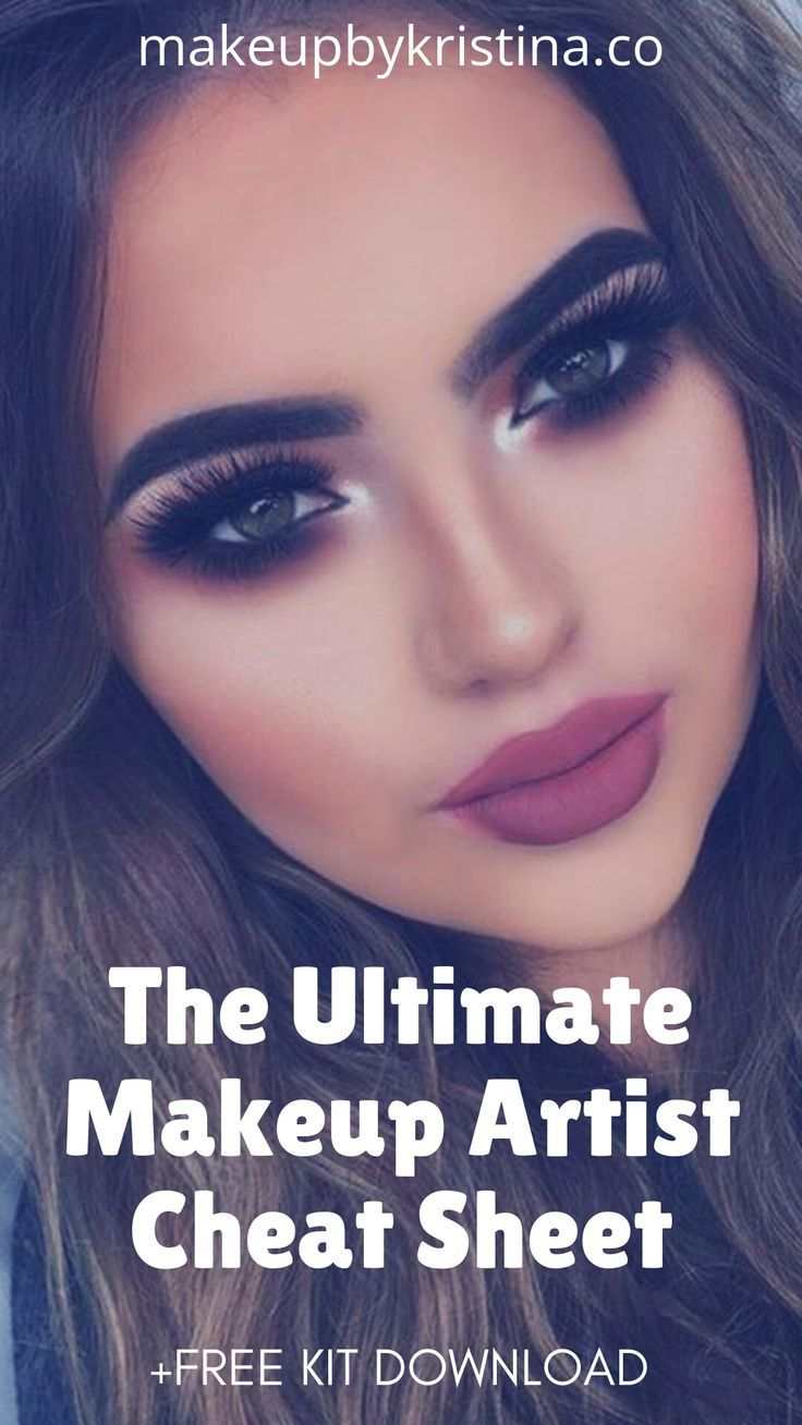 The Ultimate Makeup Artist Cheat Sheet + FREE KIT DOWNLOAD