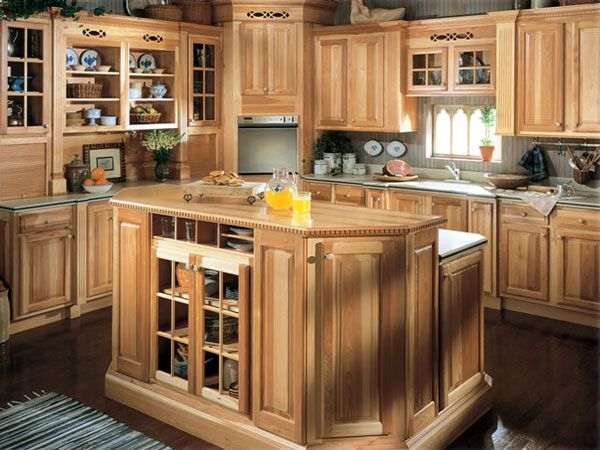 Natural Hickory Kitchen Cabinets - Rooms