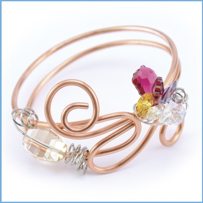 Artistic Wire Crystal Bracelet | style | Pinterest | Artistic wire ...