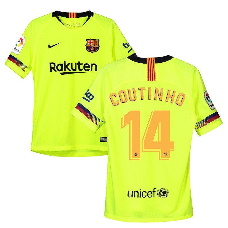 the latest 1085e ca5ff Philippe Coutinho Barcelona Nike Youth 2018/19 Away Replica ...
