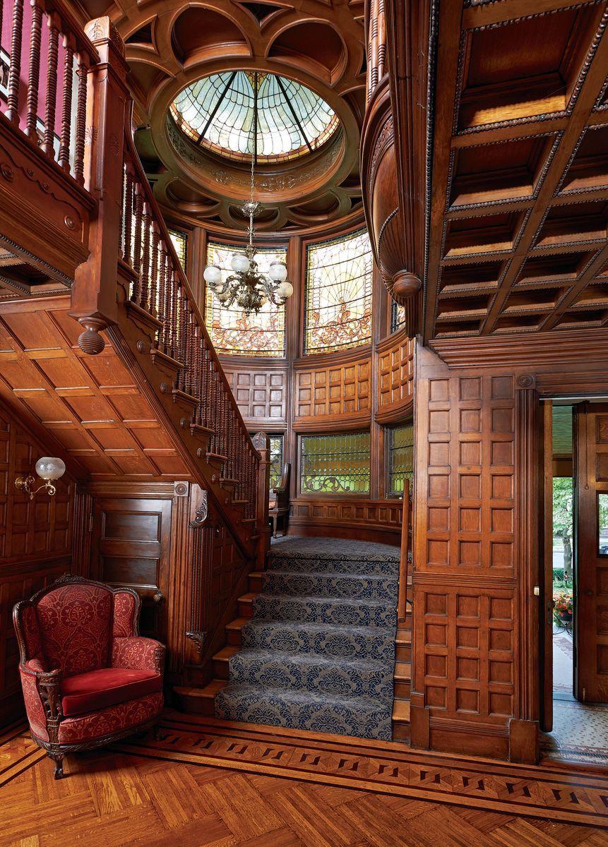 Vintage house interior design rich rewards for a labor of love  queen anne houses  pinterest