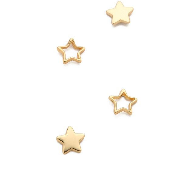 Star Stud in Metallic Gold Gorjana Xu2U2C