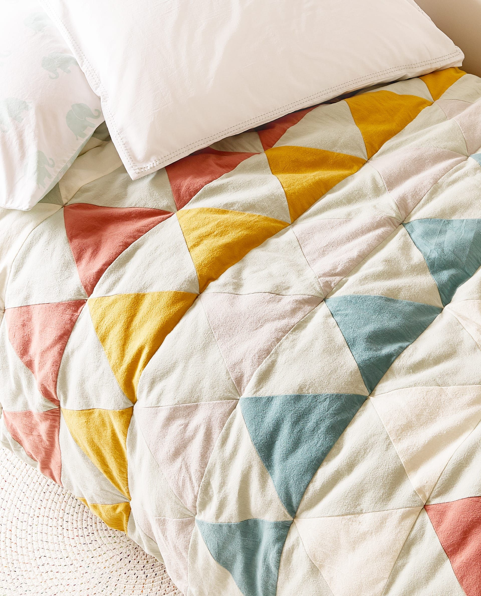 TRIANGULAR PATCHWORK QUILT - VIEW ALL - BED LINEN ...