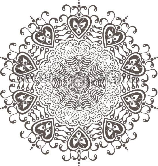 Mandala Art Coloring Page Or Henna Tattoo Download Printable Custom ...