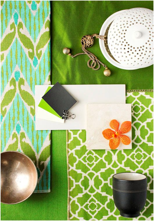 Green Mood canada | kelly green, mood boards and pillows