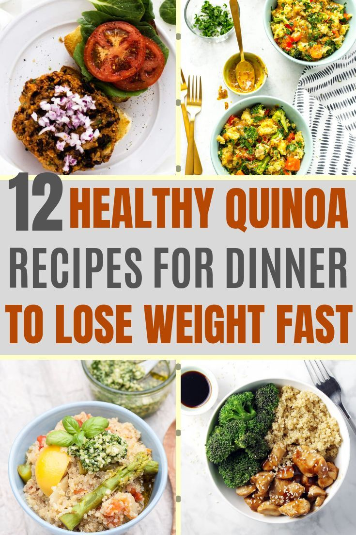 Photo of 12 HEALTHY QUINOA RECIPES FOR DINNER TO LOSE WEIGHT – NUTRI AND DIET