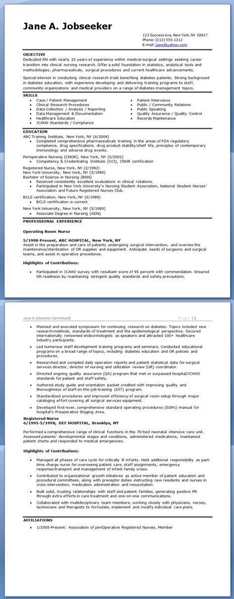 Registered Nurse Career Change Resume With Images -5578