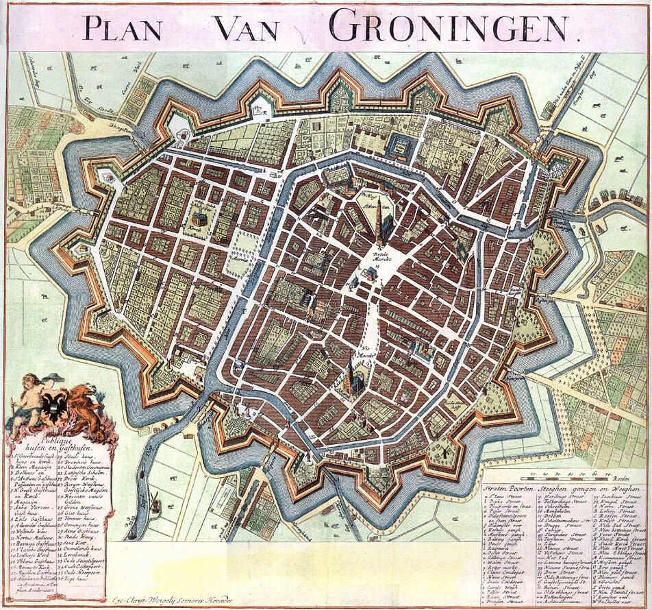 List of Synonyms and Antonyms of the Word map groningen 1650
