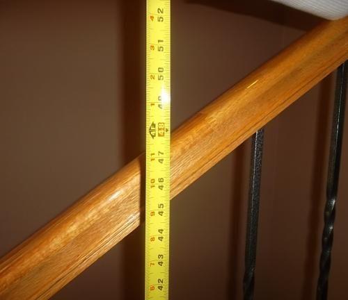 Best Handrail Too High Handrail Home Inspection 400 x 300
